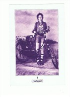 PHOTO PUBLICITAIRE CACHAREL N ° 1JEUNE FILLE AU VELO - Publicités