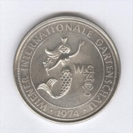 Médaille Autriche - Wien - Wiener Internationale Gartenschau 1974 - 41 Mm - Professionnels / De Société