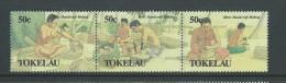 Tokelau 1990 Men�s Handicraft first strip of 3 MNH