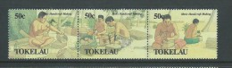 Tokelau 1990 Men´s Handicraft First Strip Of 3 MNH - Tokelau