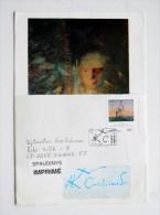 rare, painter Ciurlionis issue sent from Lithuania 1996 Vilnius special cancel fdc art painting LABEL IMPRIME SPAUSDINYS