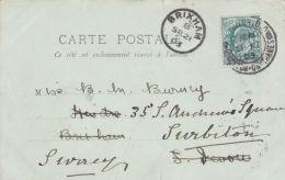POSTAL HISTORY. 1903 SINGLE CIRCLE CANCELLATION - BRIXHAM - Postmark Collection