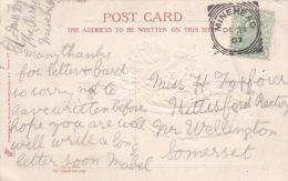 POSTAL HISTORY 1907 SQUARED CIRCLE - MINEHEAD - Storia Postale