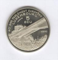5 Ecu Luxembourg - 40 Ans Du Parlement Européen - 1992 - Gettoni E Medaglie