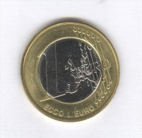 Jeton Bimetalic - 1 Euro - Ecco L'euro - Maschio Angiono - Napoli - Italy