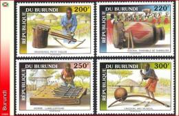 Burundi 1022/25**   Musique Instruments MNH