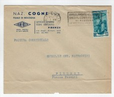 Repubblica Storia Postale Lavoro 12 Lire Isolato - 6. 1946-.. Repubblica