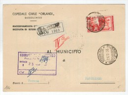 Repubblica Storia Postale Lavoro 60 Lire Isolato - 1946-.. République