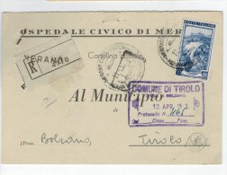 Repubblica Storia Postale Lavoro 55 Lire Isolato - 1946-.. République