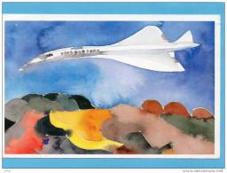 """AVION -""""le Concorde""""-carte Illustrée Par Jp Formica-- - 1946-....: Moderne"""