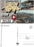 Ticino - Saluti Da Melide - Lago Di Lugano 2 PANORAMI (A-L 132) - Postcards