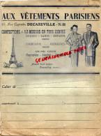 12 - DECAZEVILLE - PROTEGE CAHIER -AUX VETEMENTS PARISIENS-31 RUE CAYRADE-TOUR EIFFEL- ANNEES 1930 - Textilos & Vestidos