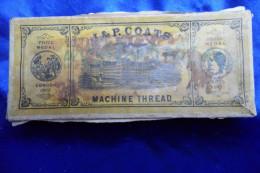 Schachtel Der J. & P. Coats Machine Thread Company, Great Britain > 1900 - Alte Papiere