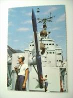 FOTO RAUL CASTRO       BATTLE SHIP   MARINA  MILITARE  WARSHIP  VIAGGIATA COME DA FOTO BOLLO RIMOSSO - Guerra