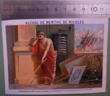 Ricqlès - Inventeurs Célèbres - ARCHIMEDE, Né En 287, Inventeur De La Vis Et De La Brouette - Cromo