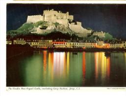 2J15 Photo E.Ludwig, John Hinde Studios- Mont Orgueil Castle Overlooking Gorey Harbour, Jersey -2 Scans Stamp - Jersey