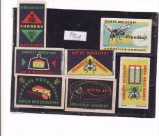 Boites D'allumettes-etiquettes,matchbox Labels,Czechoslovakia 1961 Insectes The Fly Mouche Fromage Cheese - Zündholzschachteletiketten