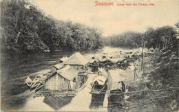 SINGAPORE - Scene From The Pahang River. - Singapour