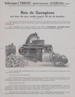 01 1157 LA CLUSE AIN 1940 PUBLICITE Pour BOIS DE GAZOGENES Ets C. THOMASSET Ingenieur Constructeur Gazogene Scierie - Publicités