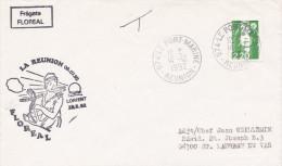 LETTRE  FREGATE FLOREAL LA REUNION LORIENT LE PORT MARINE 14/12/92 - Naval Post