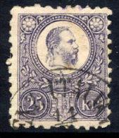 HUNGARY  1871  25 Kr. Reddish Violet, Used.  Michel 13b - Hungary