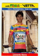 Leonardo SIERRA . 2 Scans. Cyclisme. Selle Italia Vetta Galli - Ciclismo