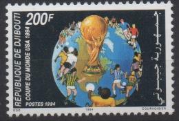 Djibouti Dschibuti 1994 Mi. 601 ** Neuf MNH Coupe Du Monde De Football FIFA World Cup Soccer Fußball WM USA RARE ! - Dschibuti (1977-...)