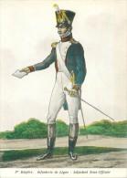 Belle    Carte 1 Er Mpire   - Infanterie De Ligne , Adjudant Sous Officier      AG483 - Regiments