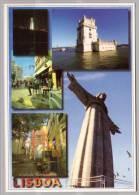 Lisboa , Cristo Rei - Torre De Belem - Estatua Do Poeta Fernando Pessoa No Chiado - Alfama - Lisboa