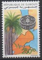 Djibouti Dschibuti 1995 Mi. 617 ** Neuf MNH FAO 1945 - 1995 WFO Palm Tree Palmier Map Carte Géographique RARE ! - ACF - Aktion Gegen Den Hunger