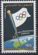 Djibouti Dschibuti 1996 Mi. 624 ** Neuf MNH Jeux Olympiques Olympic Games Olympia JO Atlanta USA  RARE ! - Dschibuti (1977-...)