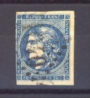 04201  -   France  :   Yv  45B   (o)   Variété: Anneau Lune - 1870 Emisión De Bordeaux