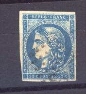 04202  -   France  :   Yv  45BC  (o)   Variété: Anneau Lune - 1870 Emisión De Bordeaux