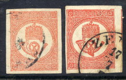 HUNGARY  1871  Newspaper Stamp In Both Shades, Used.  Michel 7a-b - Newspapers