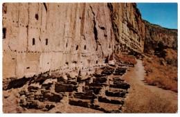 A-951, Postcard, Long House Of Bandelier - Frijoles Canyon - Native Americans