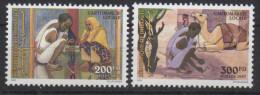 Djibouti Dschibuti 1997 Mi. 635-636 ** Neuf MNH Cartomancie Locale Dromadaire Fauna Fortune Telling RARE !