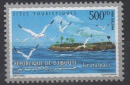 Djibouti Dschibuti 1998 Mi. 673 ** Neuf MNH Iles Maskali Insel Island Mouettes Oiseaux Vögel Birds RARE ! - Dschibuti (1977-...)