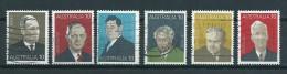 1975 Australia Complete Set Prime Ministers Used/gebruikt/oblitere - 1966-79 Elizabeth II