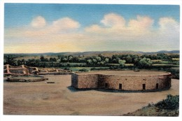 A-964, Postcard, Aztec Ruins National Monument - New Mexico - Native Americans