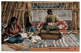 A-967, Postcard, How Navajo Rugs Are Made - Native Americans