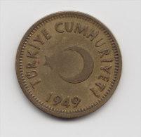 @Y@  Turkije / Tureky   25 Kurush  1949   (2944) - Turquie
