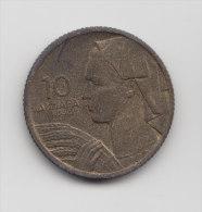@Y@  Joegoslavie   10 Dinar  1955    (2947) - Yougoslavie