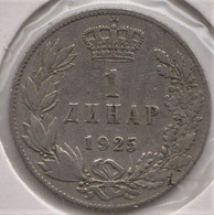 @Y@  Joegoslavie  1 Dinar  1925     (2951) - Yougoslavie