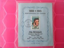 1984 Joint Ireland / USA - John McCormack (Opera Singer) Birth Cent. - US 'Clarence Reid' FDC Souvenir Card - Emissions Communes
