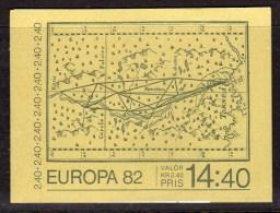 SWEDEN - 1982 EUROPA CELSIUS BOOKLET Kr 14.40 SG SB357 FINE MNH ** - Booklets