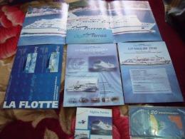 6 DOCUMENTS -FICHES TECHNIQUES ALGERIE-FERRIES( TARIK IBN ZIYAD-TASSILI-EL-DJAZAIR-HOGGAR-ZERALDA. - Boats