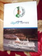 REVUE- ALGERIE-FERRIES( FLOTTE-TARIK IBN ZIYAD-TASSILI-EL-DJAZAIR-HOGGAR-ZERALDA.-TIPASA - Boats