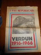 Cinquantenaire de la bataille de VERDUN-1916.1966-suppl�ment de 24 pages de l'Est R�publicain