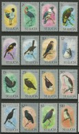 ST.LUCIA  1976  BIRDS  SET   MNH - Birds