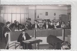CARTE PHOTO / SCENE DE JUSTICE - THEATRE
